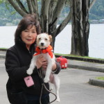 Kay Hirai, Studio 904 Founder and Owner, with her dog Max